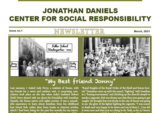 March 2021 Jonathan Daniels Newsletter